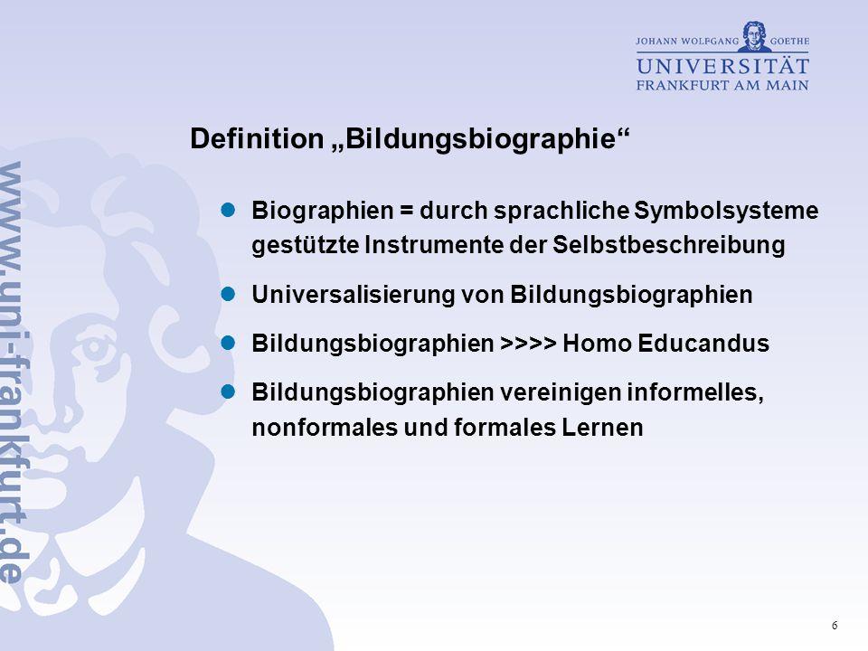 """Definition """"Bildungsbiographie"""