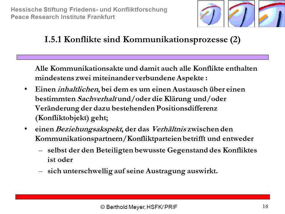 I.5.1 Konflikte sind Kommunikationsprozesse (2)
