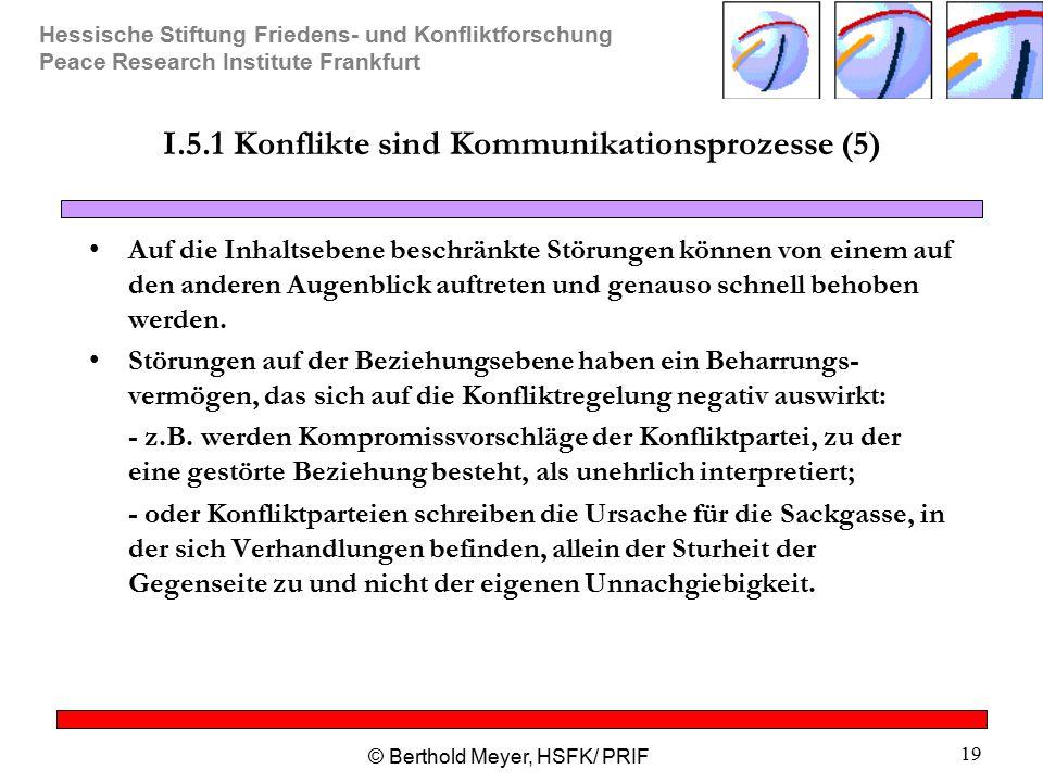 I.5.1 Konflikte sind Kommunikationsprozesse (5)