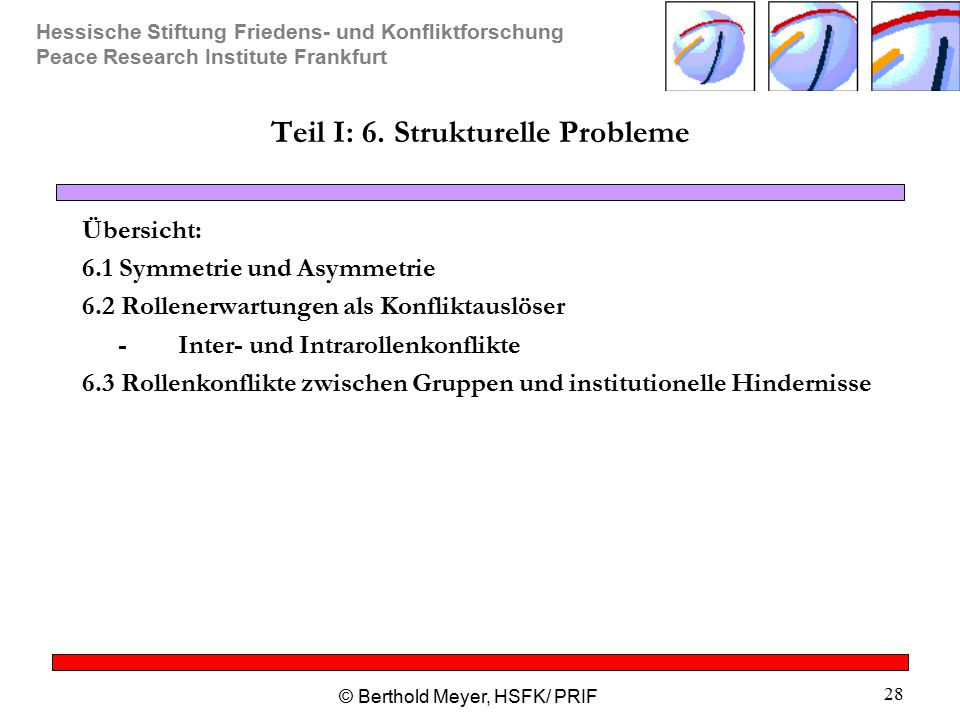 Teil I: 6. Strukturelle Probleme