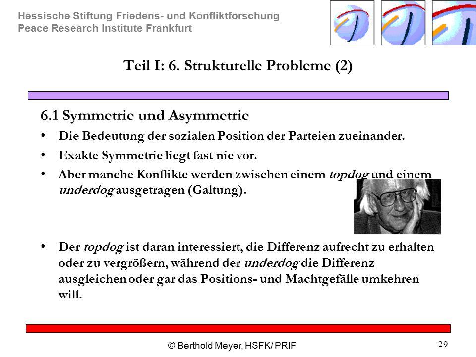 Teil I: 6. Strukturelle Probleme (2)