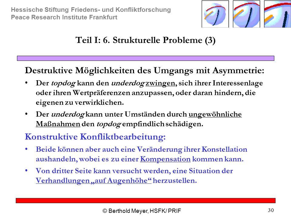 Teil I: 6. Strukturelle Probleme (3)