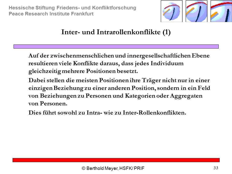 Inter- und Intrarollenkonflikte (1)