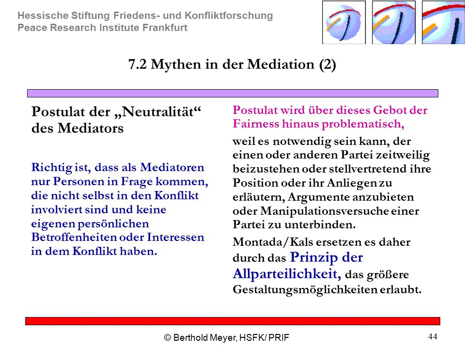 7.2 Mythen in der Mediation (2)