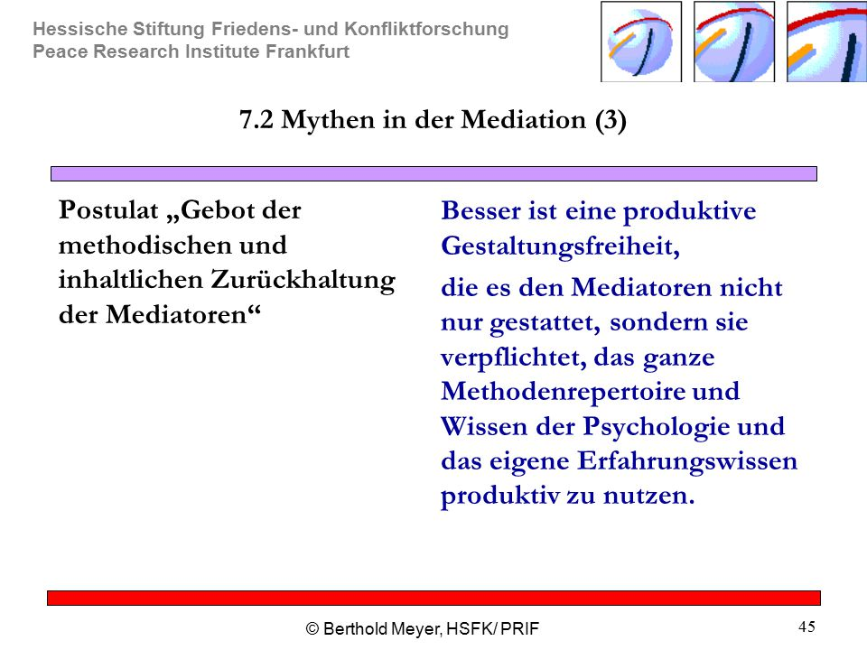 7.2 Mythen in der Mediation (3)