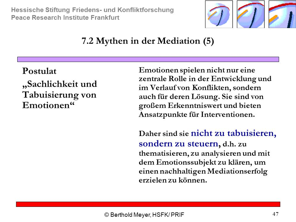 7.2 Mythen in der Mediation (5)