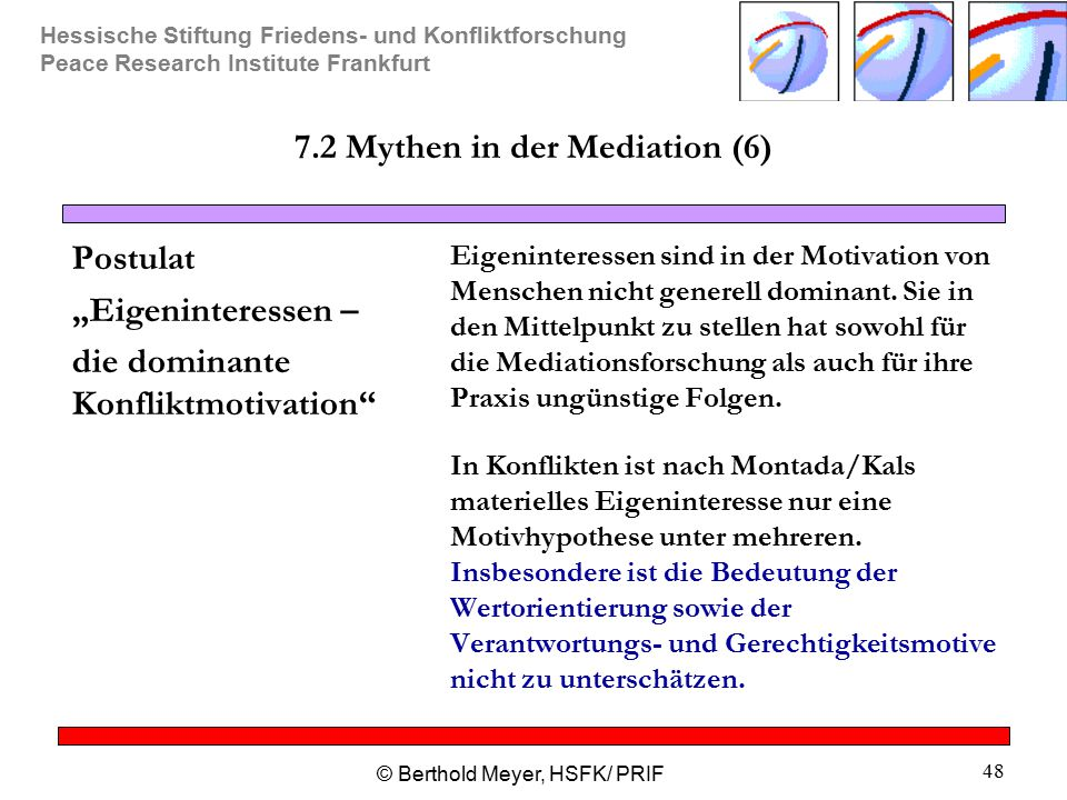 7.2 Mythen in der Mediation (6)
