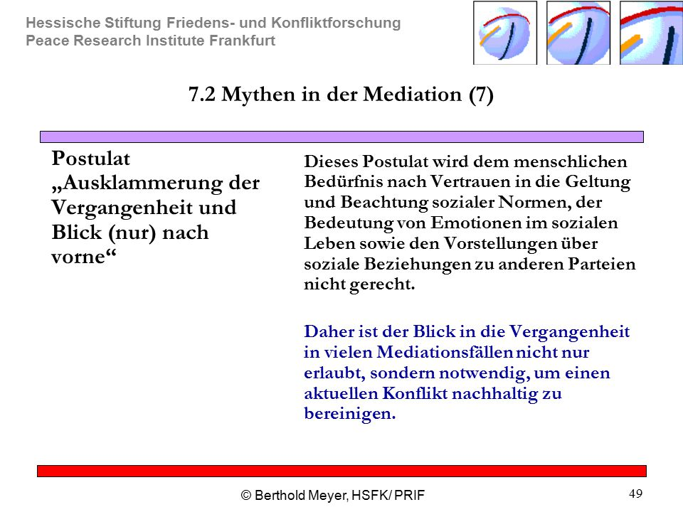 7.2 Mythen in der Mediation (7)