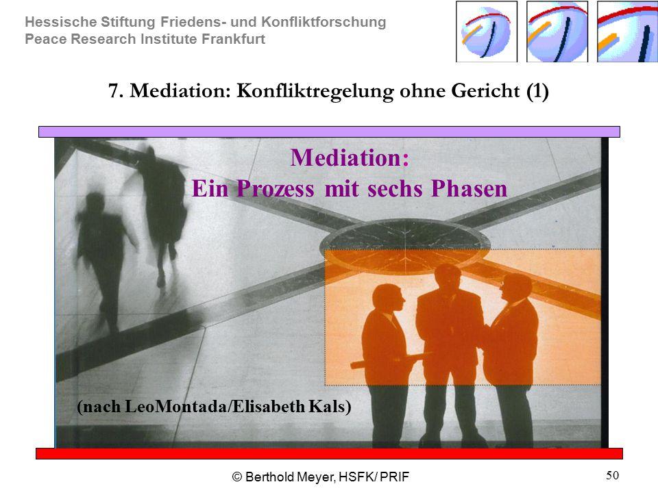 7. Mediation: Konfliktregelung ohne Gericht (1)