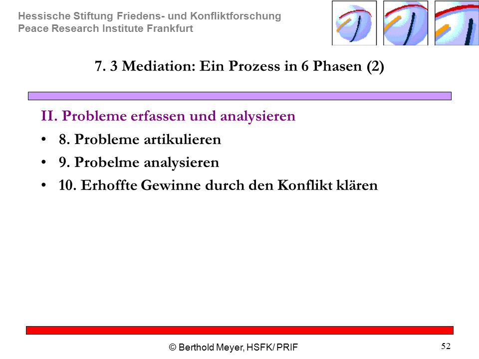 7. 3 Mediation: Ein Prozess in 6 Phasen (2)