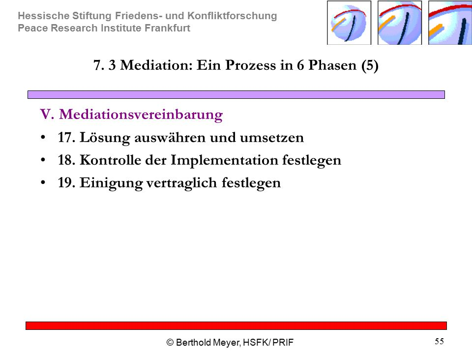 7. 3 Mediation: Ein Prozess in 6 Phasen (5)