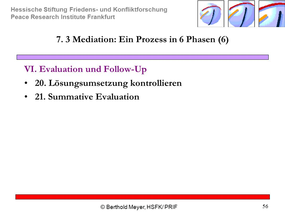 7. 3 Mediation: Ein Prozess in 6 Phasen (6)