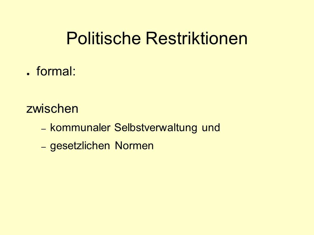 Politische Restriktionen