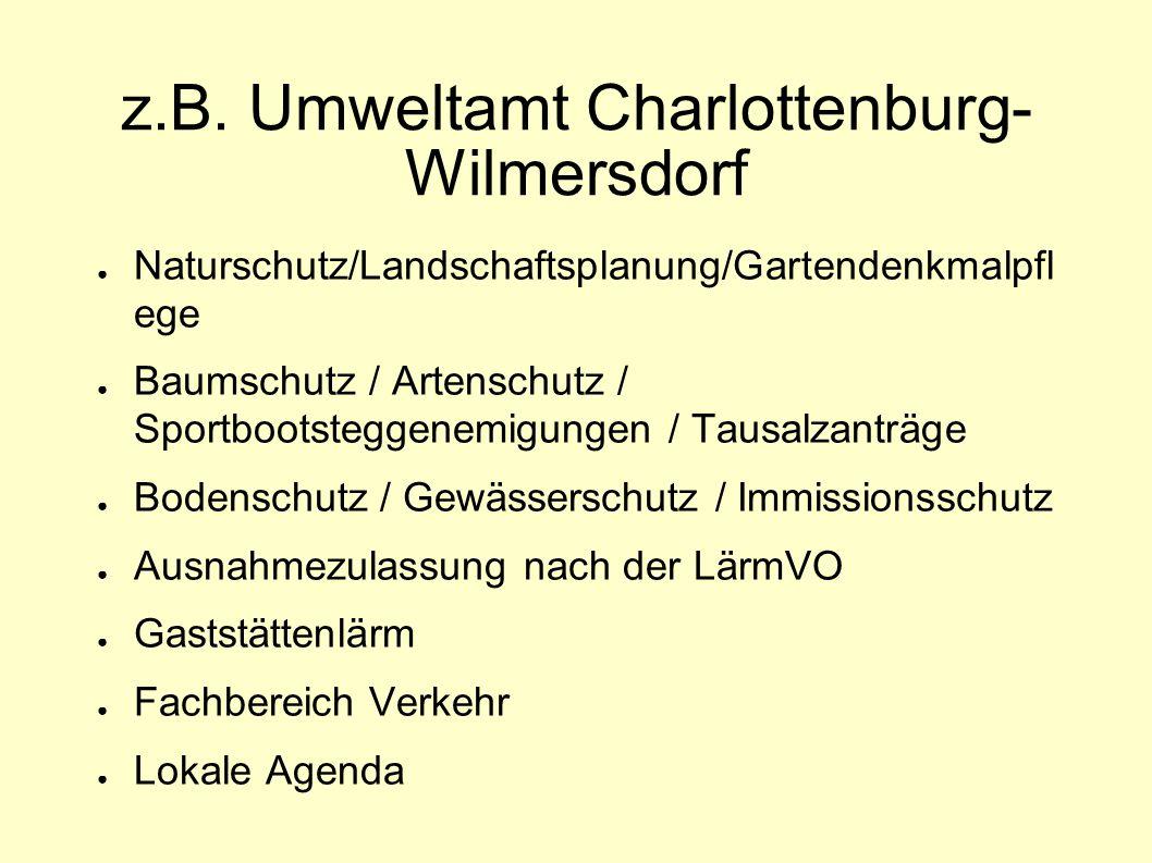 z.B. Umweltamt Charlottenburg-Wilmersdorf