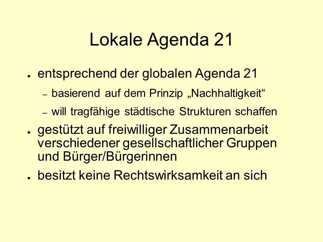 Lokale Agenda 21 entsprechend der globalen Agenda 21