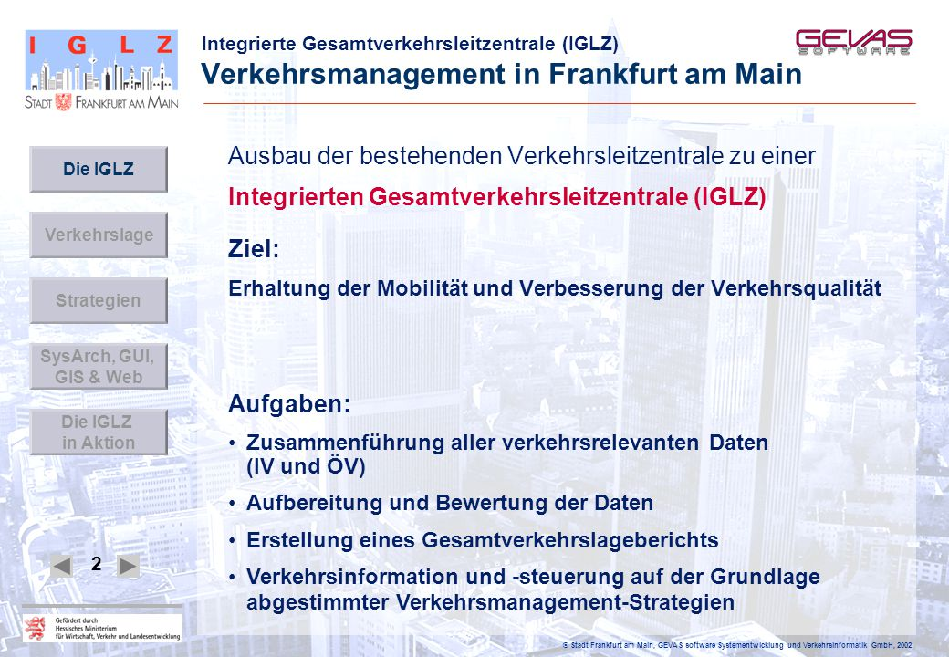 Verkehrsmanagement in Frankfurt am Main