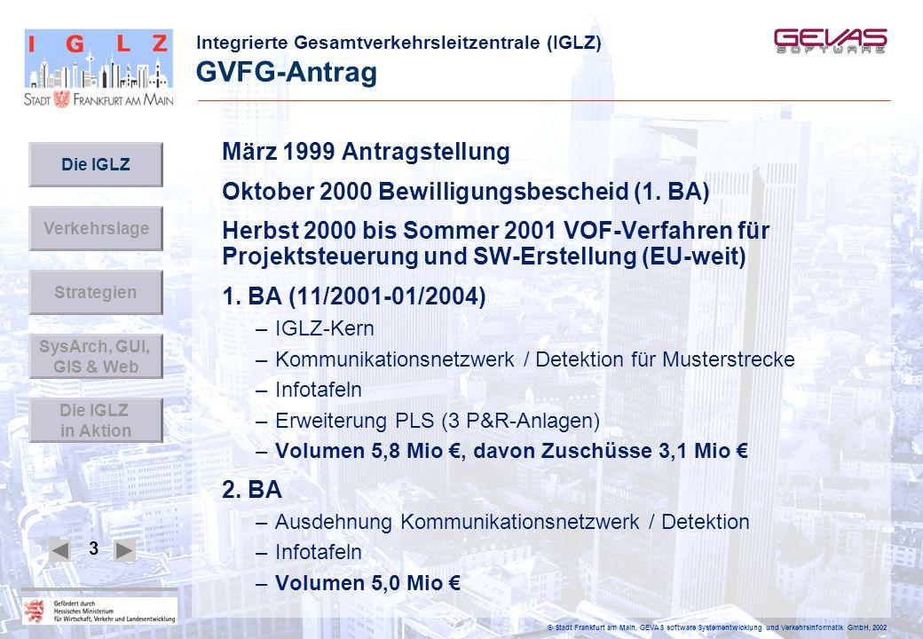 GVFG-Antrag März 1999 Antragstellung