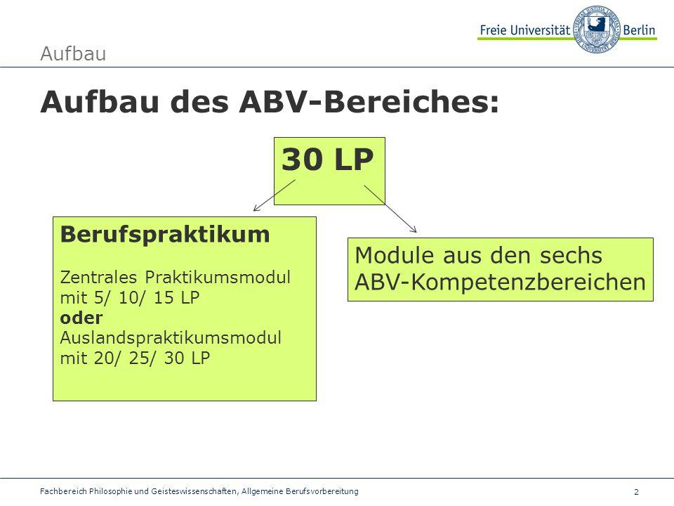 Aufbau des ABV-Bereiches: