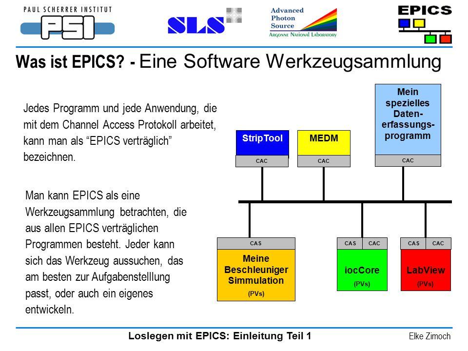 Was ist EPICS - Eine Software Werkzeugsammlung