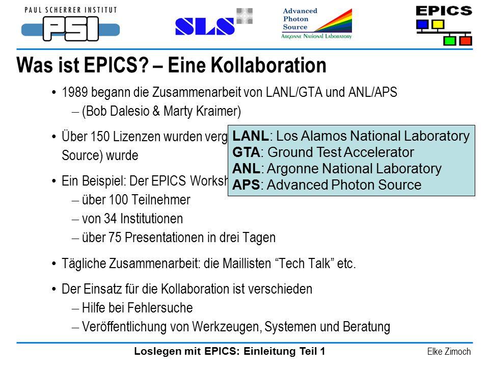 Was ist EPICS – Eine Kollaboration