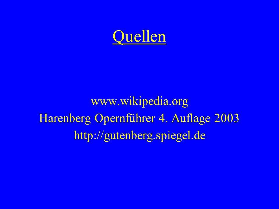 Harenberg Opernführer 4. Auflage 2003