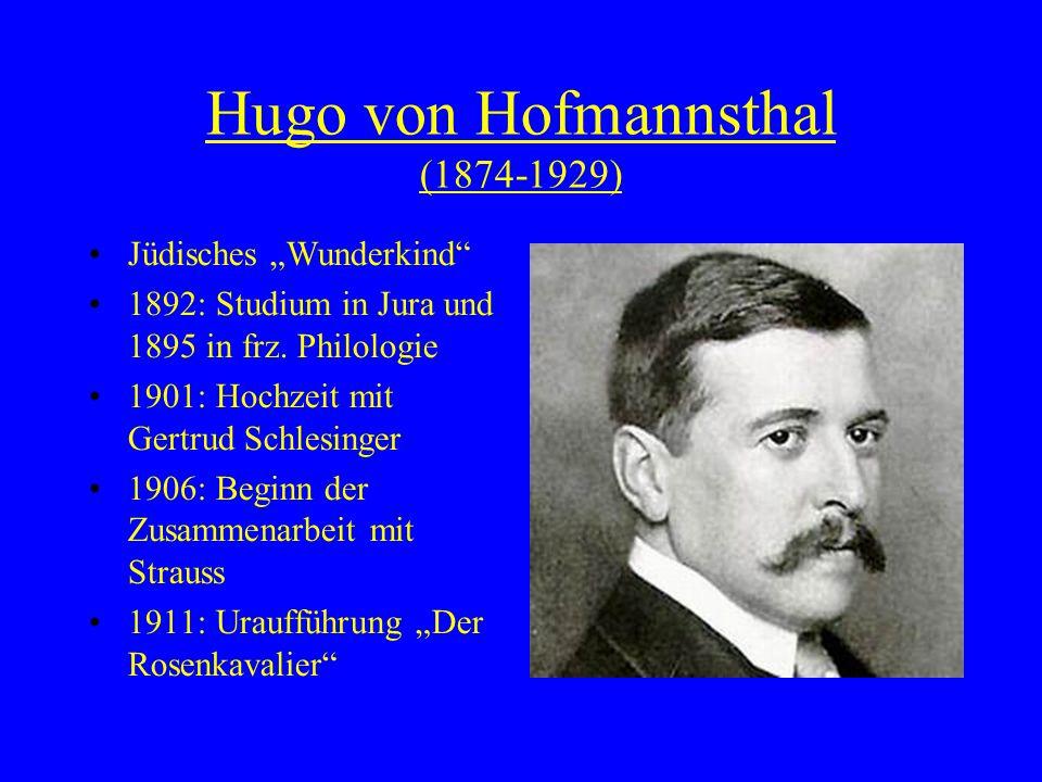 Hugo von Hofmannsthal (1874-1929)