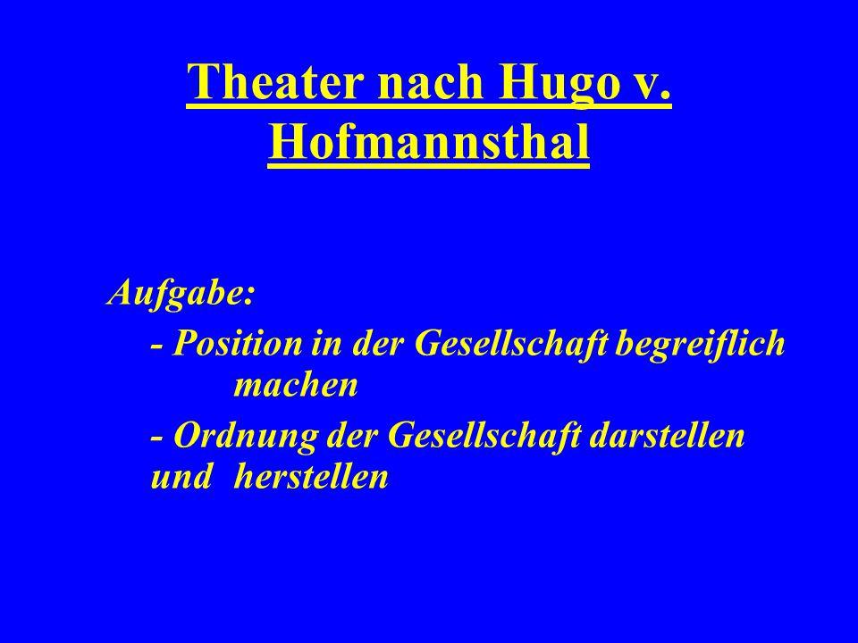 Theater nach Hugo v. Hofmannsthal