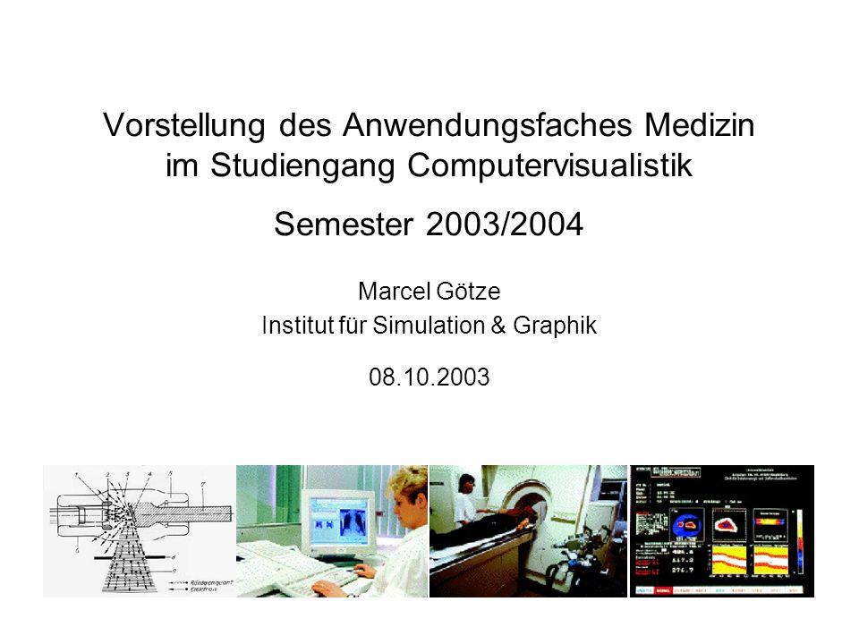 Marcel Götze Institut für Simulation & Graphik 08.10.2003