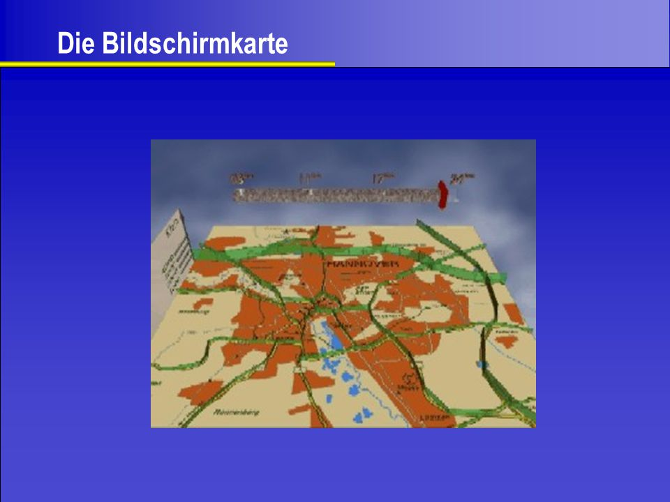 Die Bildschirmkarte Hier sieht man z.B. die tägliche Verkehrsbelastung in Hannover.