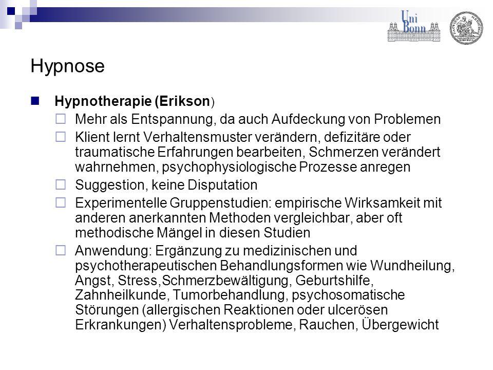 Hypnose Hypnotherapie (Erikson)