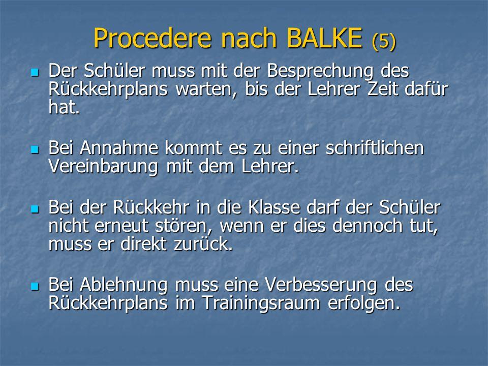 Procedere nach BALKE (5)