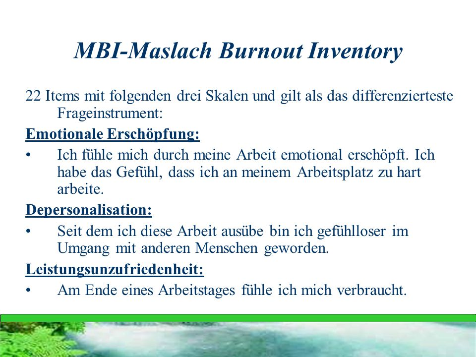 MBI-Maslach Burnout Inventory