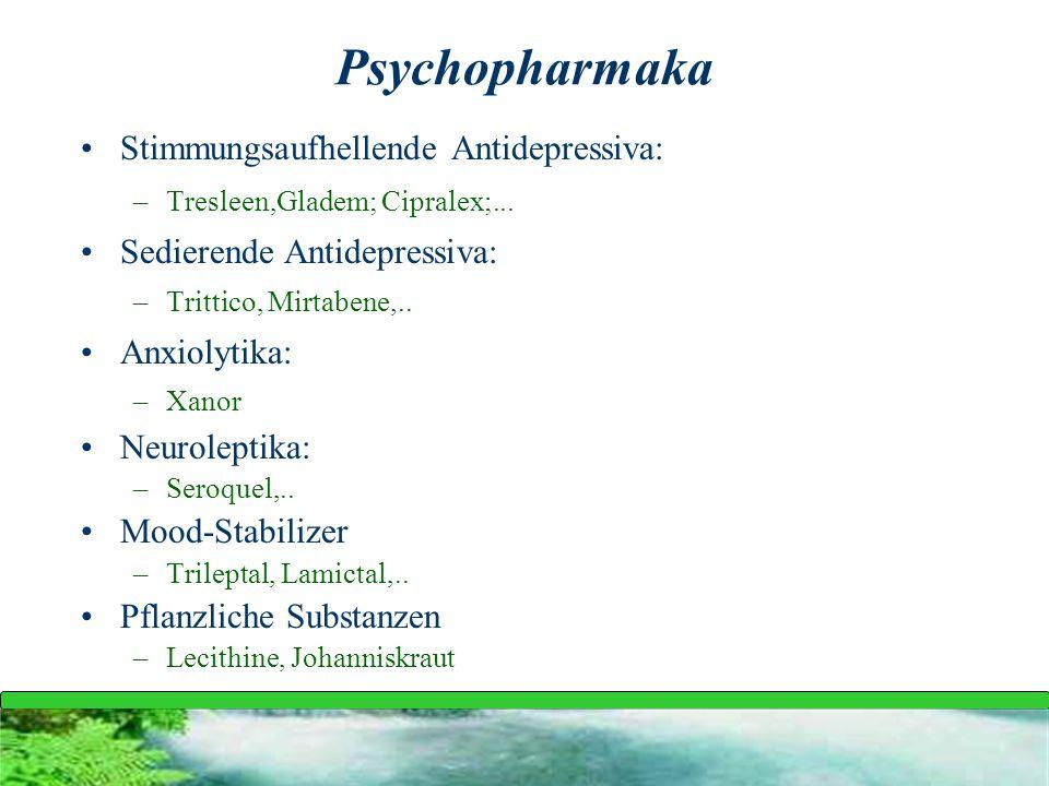 Psychopharmaka Stimmungsaufhellende Antidepressiva: