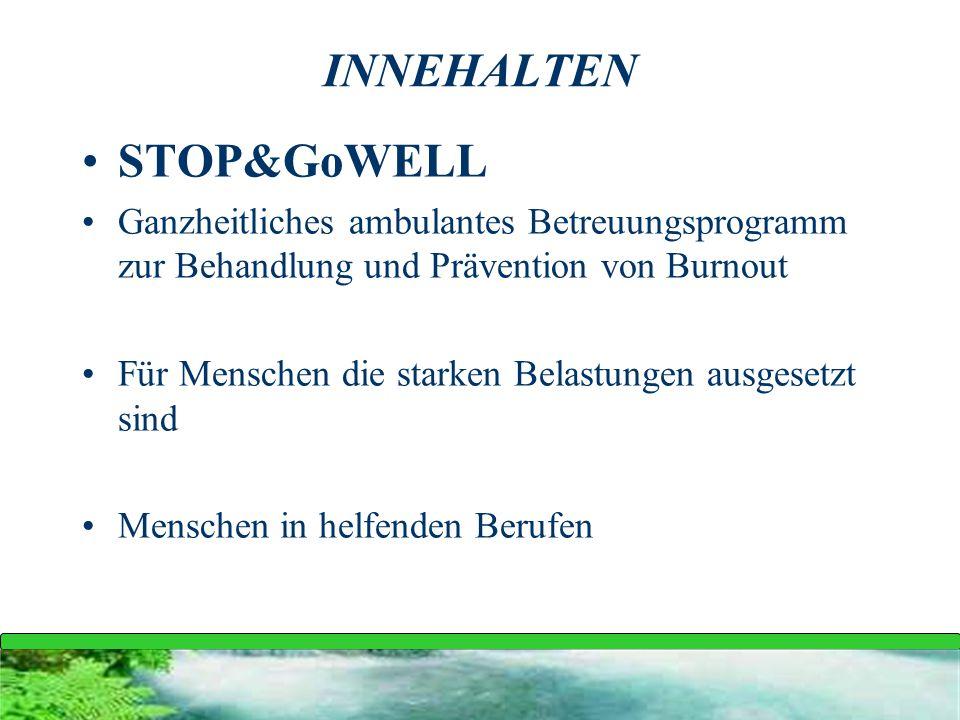 INNEHALTEN STOP&GoWELL