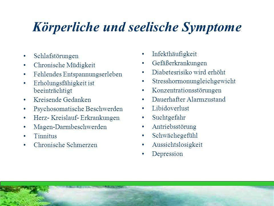 Körperliche und seelische Symptome