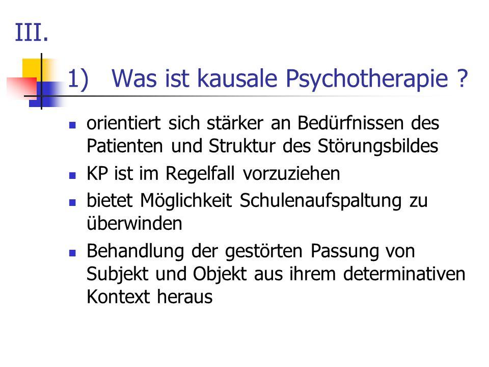 Was ist kausale Psychotherapie
