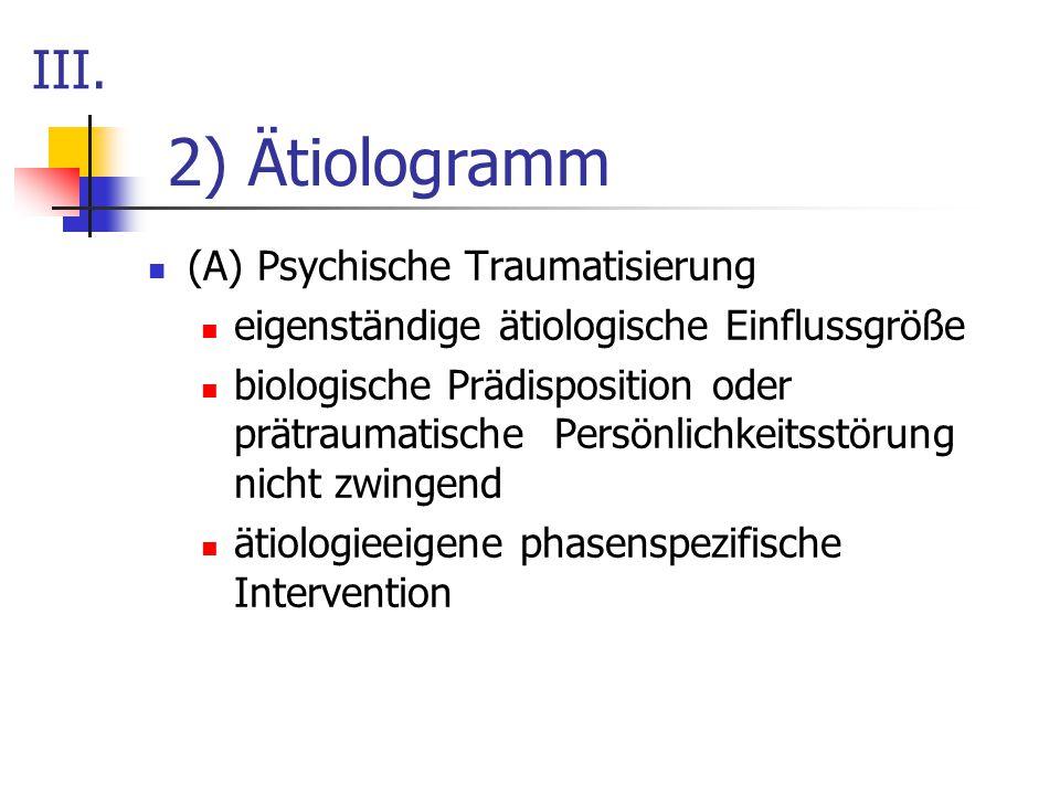 2) Ätiologramm III. (A) Psychische Traumatisierung