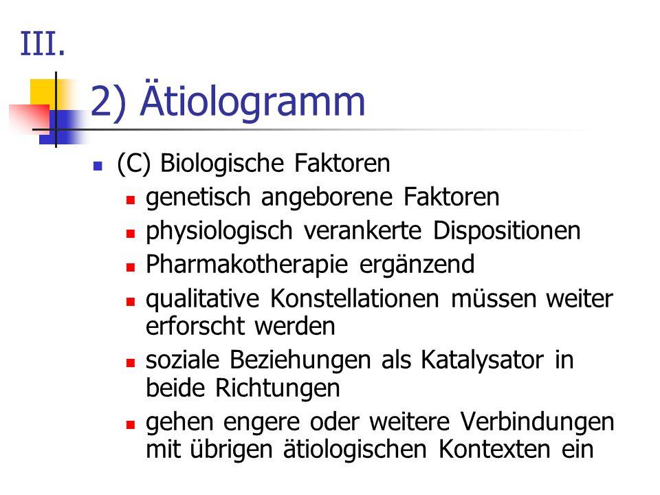 2) Ätiologramm III. (C) Biologische Faktoren