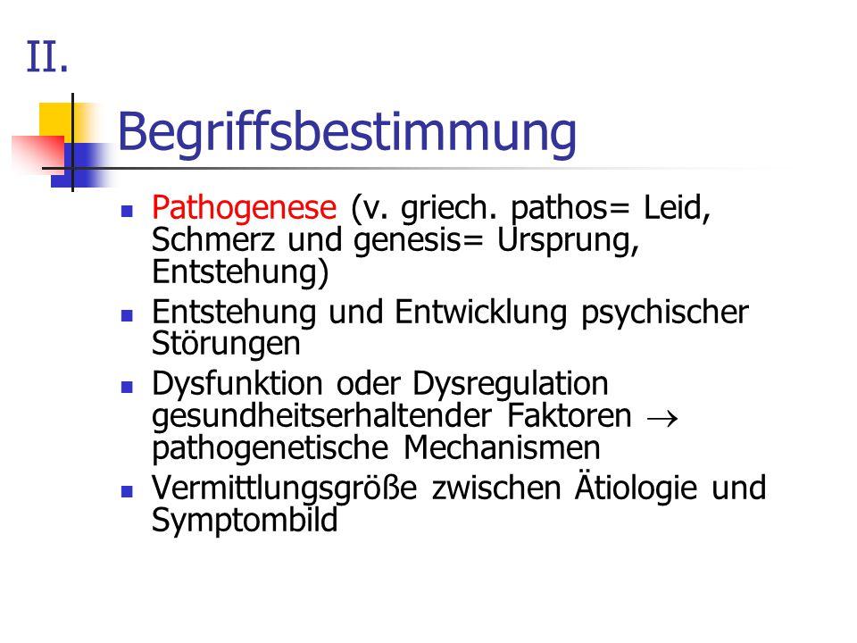 Begriffsbestimmung II.