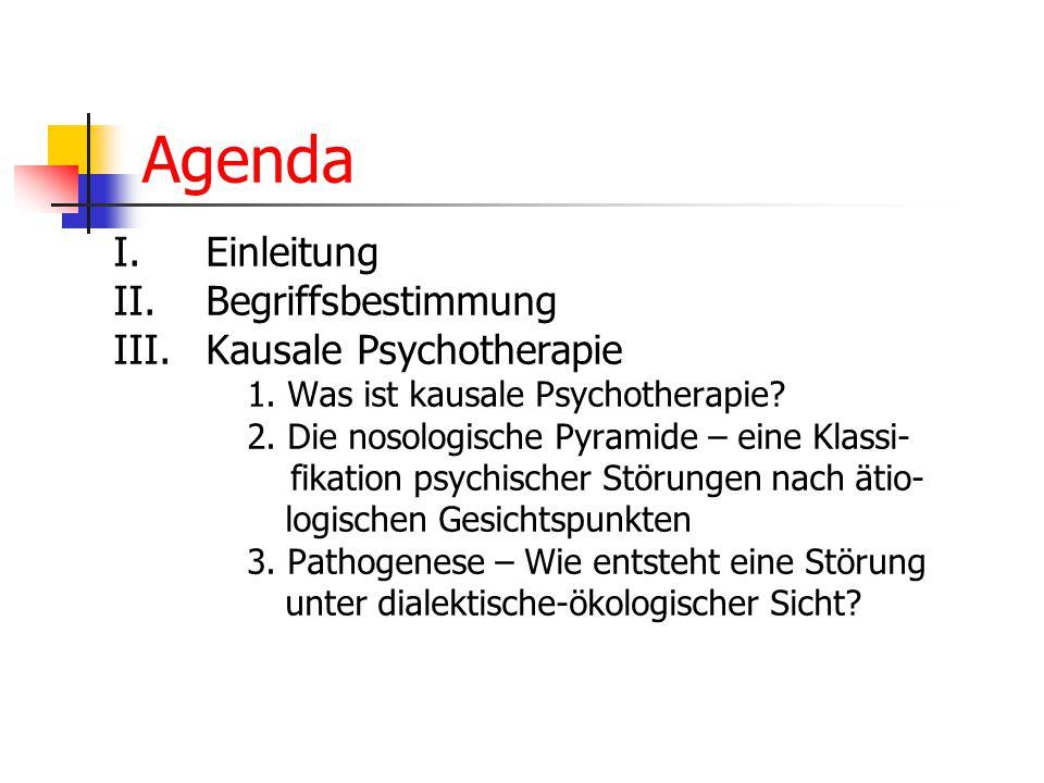Agenda I. Einleitung II. Begriffsbestimmung