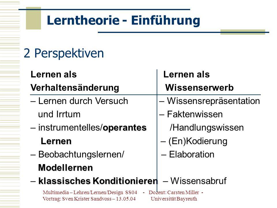 Lerntheorie - Einführung