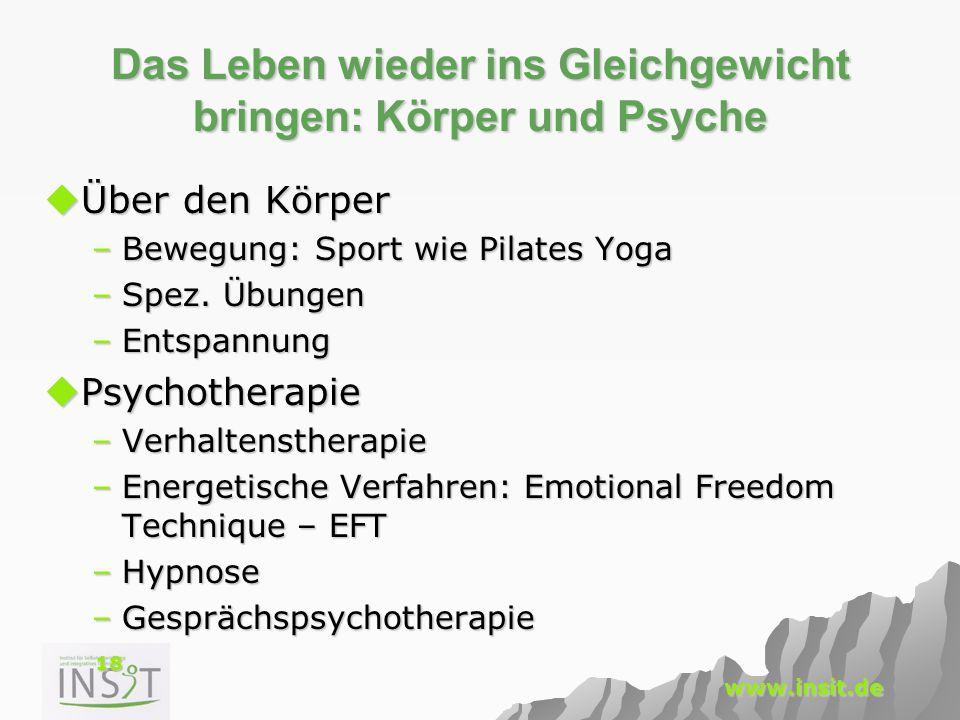 Das Leben wieder ins Gleichgewicht bringen: Körper und Psyche