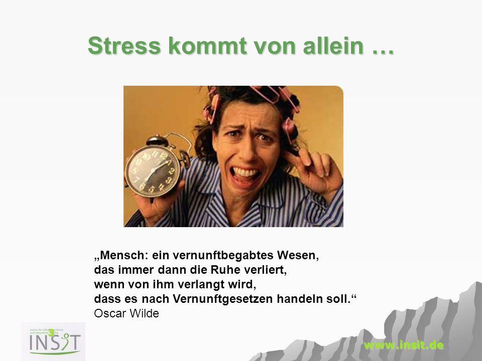 Stress kommt von allein …
