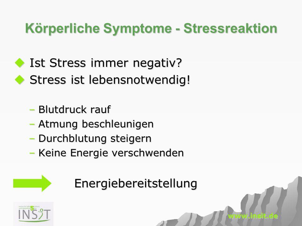Körperliche Symptome - Stressreaktion