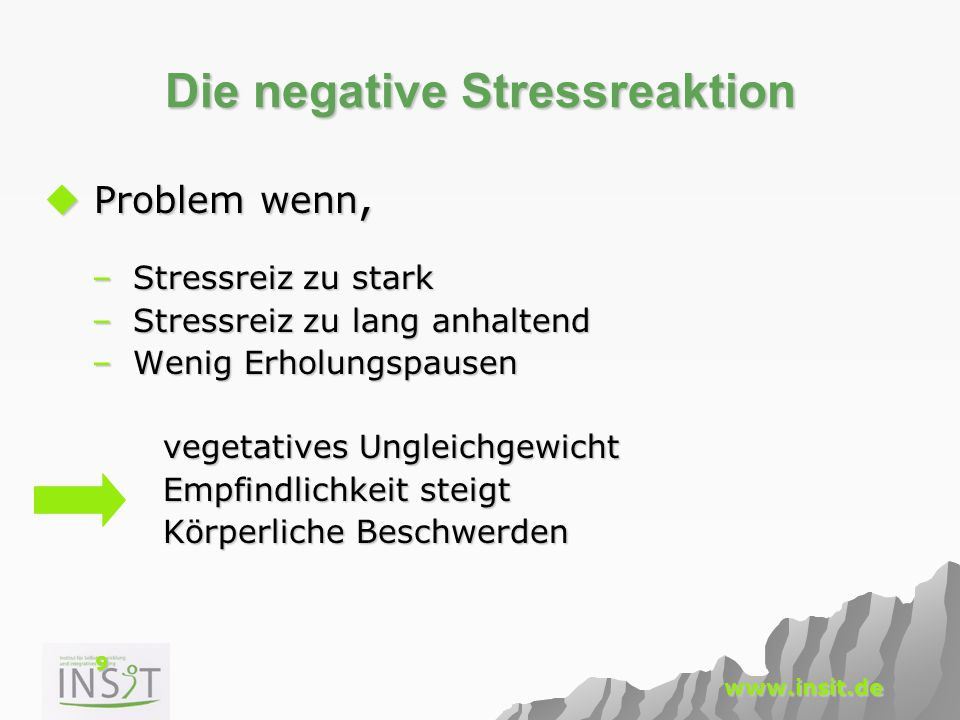 Die negative Stressreaktion