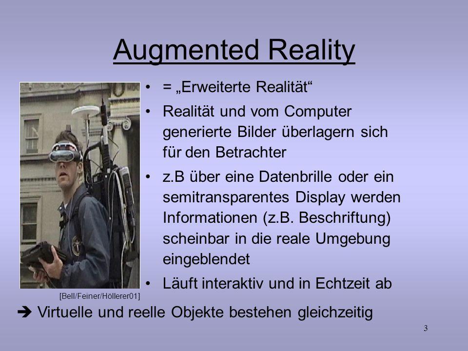 "Augmented Reality = ""Erweiterte Realität"