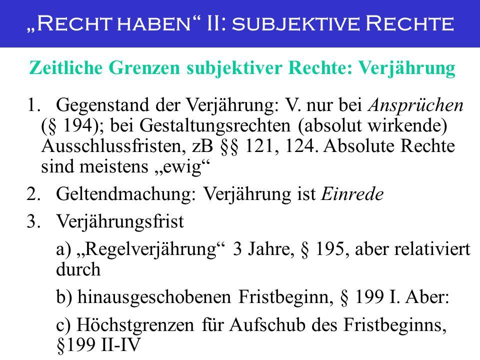 """""""Recht haben II: subjektive Rechte"""