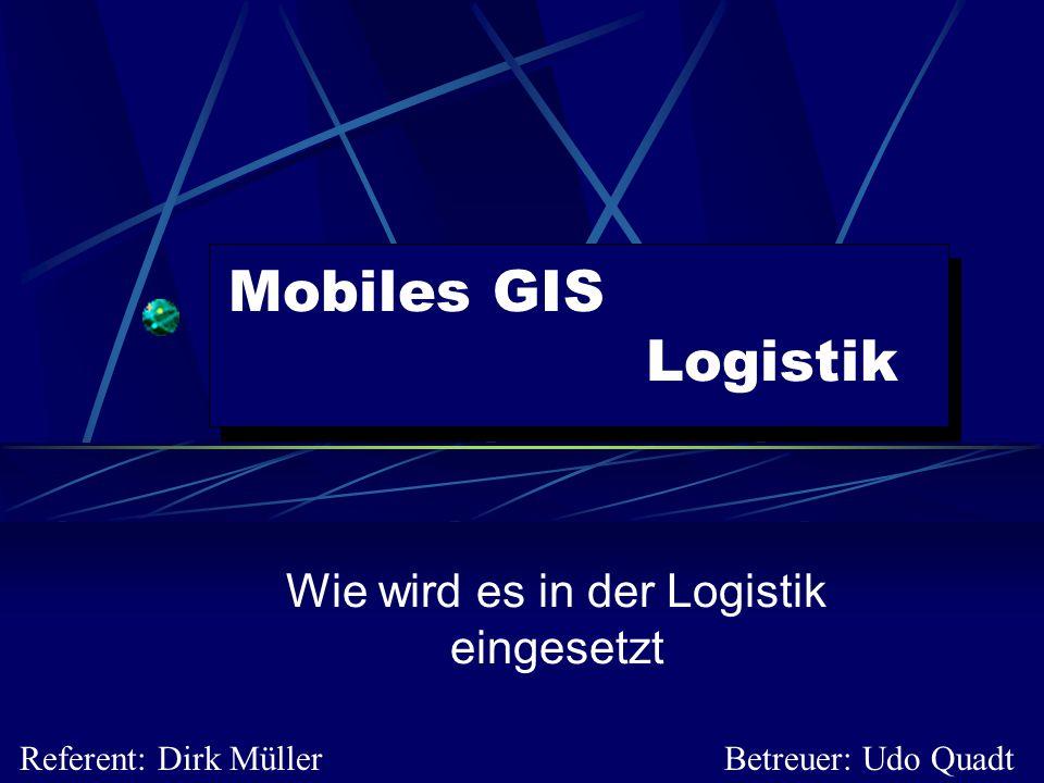 Wie wird es in der Logistik eingesetzt