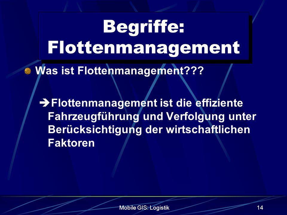 Begriffe: Flottenmanagement