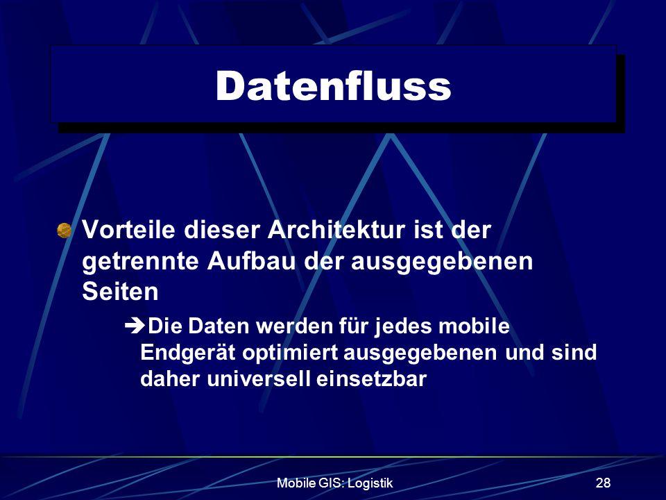 Datenfluss Vorteile dieser Architektur ist der getrennte Aufbau der ausgegebenen Seiten.